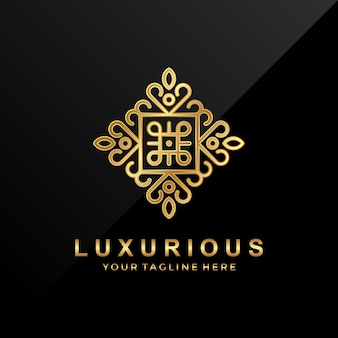 Vintage luxurious logo