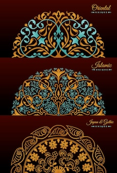 黄金の曼荼羅のヴィンテージの豪華な装飾デザイン