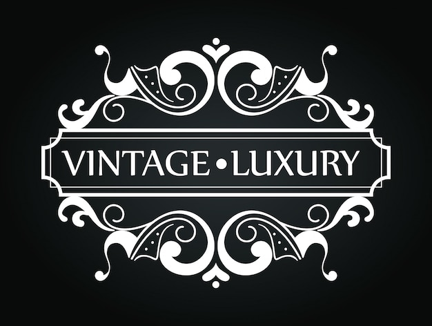 Vintage luxury frame with ornament style
