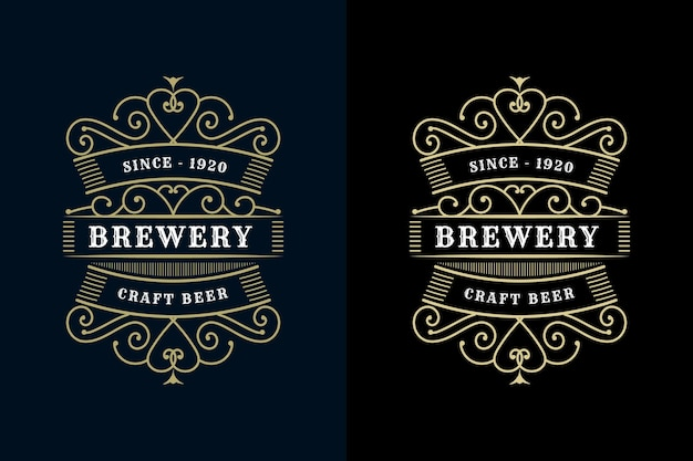 Винтажные роскошные рамки с логотипом, этикетка для этикеток с пивом, виски, алкоголем и напитками