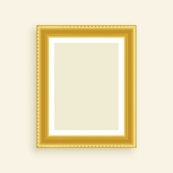 Vintage luxury golden photo frame