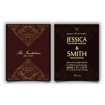 Vintage luxury invitation card
