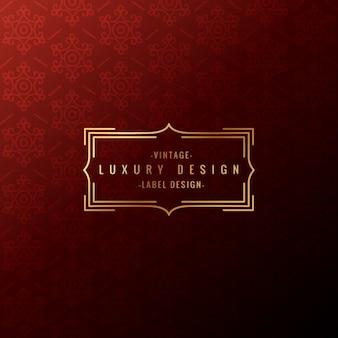 Vintage luxury label