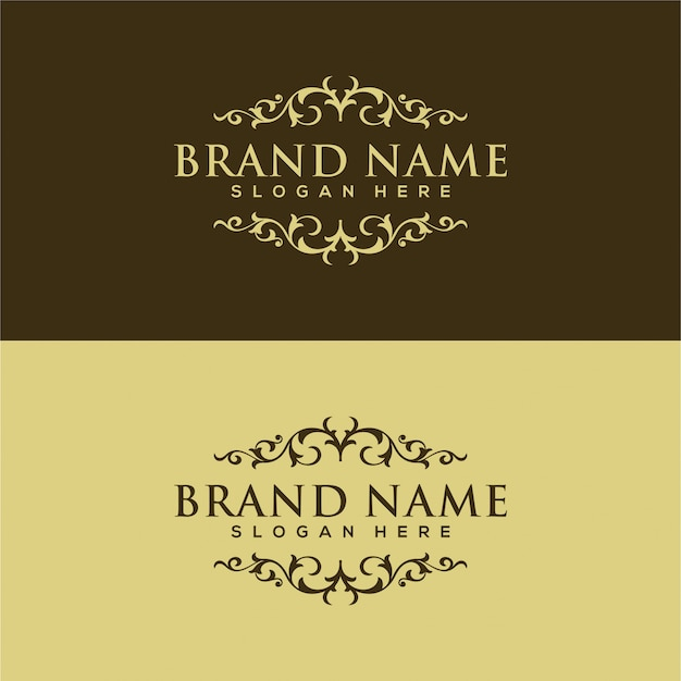 Vintage and luxury logo