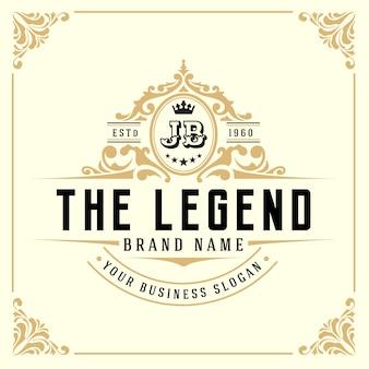 Vintage Luxury Monogram Logo Template