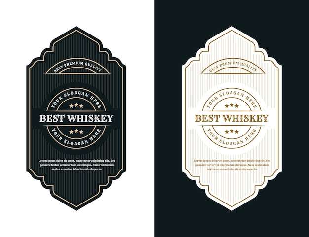 Винтажные роскошные упаковочные рамки с логотипом для пива, виски, алкоголя и бутылки для напитков