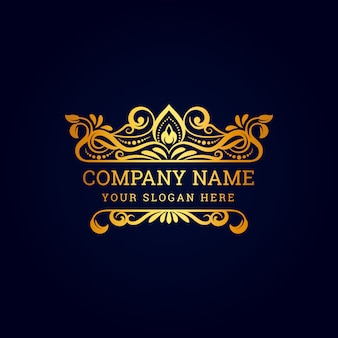 Vintage luxury royal logo with decorative ornament