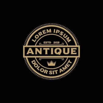 Vintage luxury stamp logo design inspiration