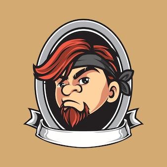 Vintage man mascot  logo