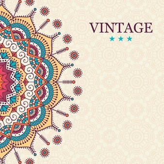 Vintage mandala background