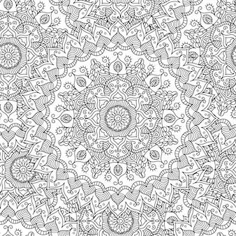 Vintage mandala seamless pattern.