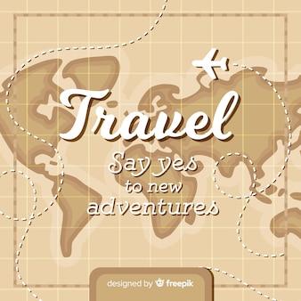 Vintage map travel background