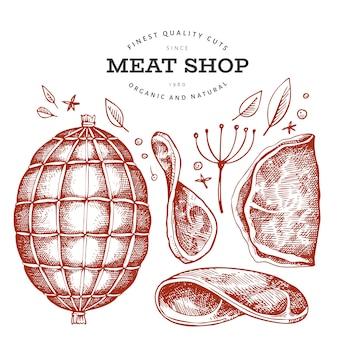 Винтажный мясной магазин
