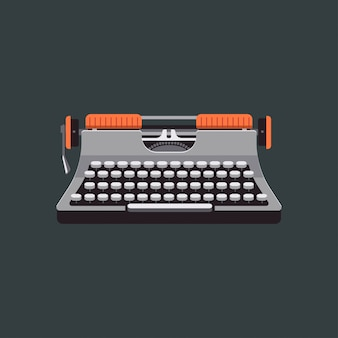 Vintage mechanic typewriter illustration