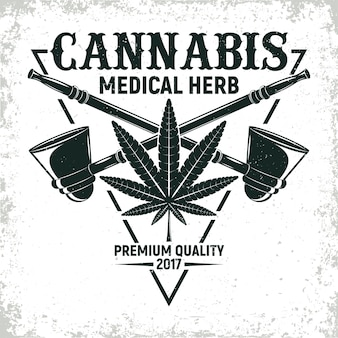 ヴィンテージ医療大麻のロゴデザイン