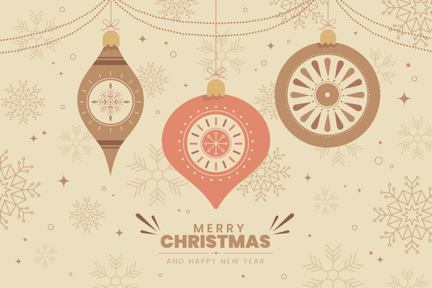 Vintage merry christmas background