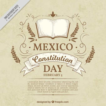 Vintage mexican constitution day background