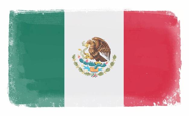Vintage mexico flag