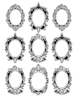 Vintage mirror frames set