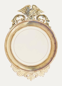 Vintage mirror illustration vector, remixed from the public domain collection.