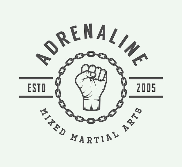 Vintage mixed martial art logo