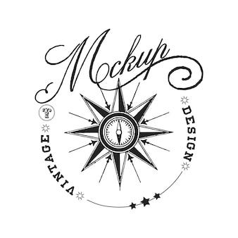 Vintage mockup logo design vector