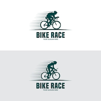 Vintage and modern biking logo and labels
