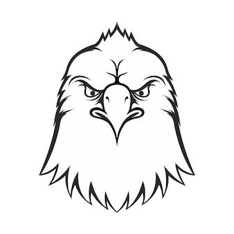 Vintage monochrome fashionable eagle