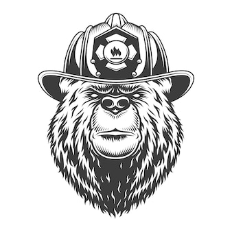 Vintage monochrome firefighting concept