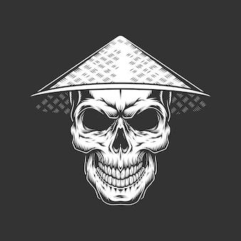 中国の帽子でビンテージモノクロスカル