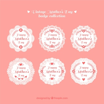 Vintage mother's day badge collection
