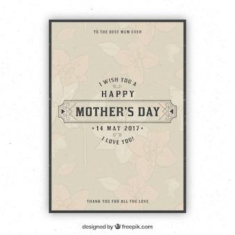 빈티지 어머니의 날 인사말 카드