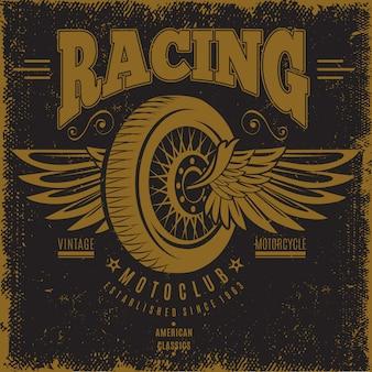 Poster vintage del moto club