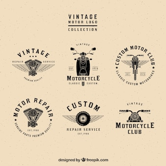 Vintage motor logos collection