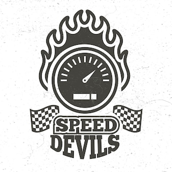Vintage motorbike and motorcycle sport emblem with grunge effect