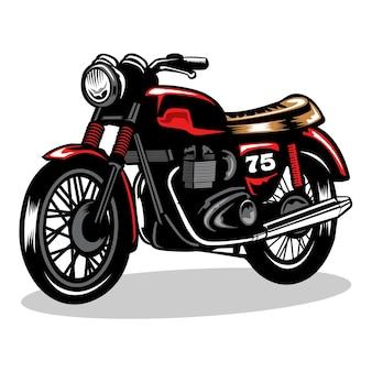 빈티지 오토바이 그림