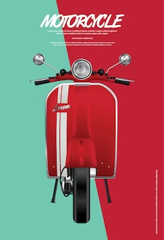 Vintage motorcycle isolated illustration