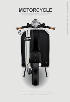 Vintage Motorcycle isolated Vector Illustration