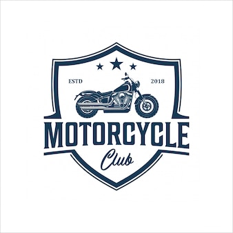 Vintage motorcycle logo design