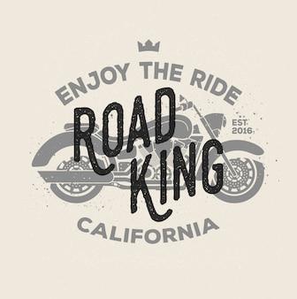 Vintage motorcycle logotype