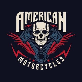 Vintage motorcycle repair logo