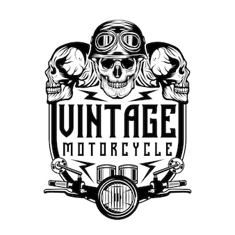 Vintage motorcycle repair logo