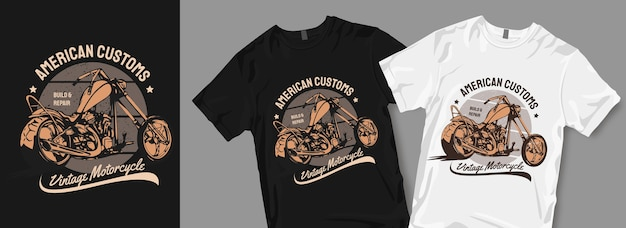 Vintage motorcycle t shirt designs