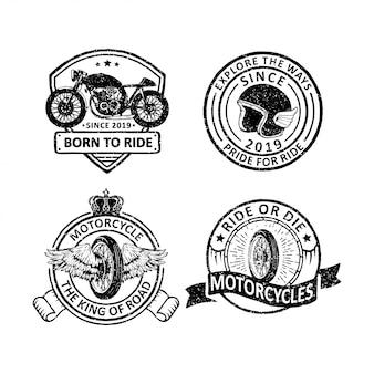 Vintage motorcycles club badges