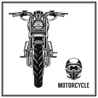 빈티지 오토바이 품질 라벨 세트
