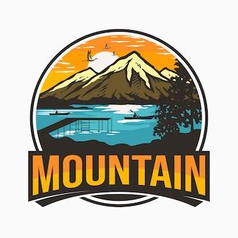 ヴィンテージ山のロゴデザイン