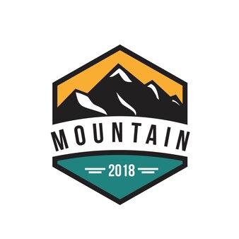 Логотип vintage mountain logo