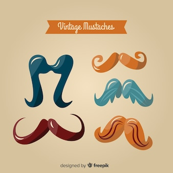 Vintage movember awareness mustache collection