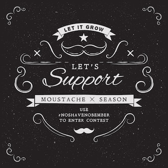 Vintage movember design background
