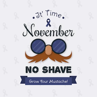 Vintage movember grow your moustache background